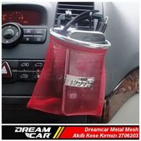 Dreamcar Metal Mesh Akıllı Kese Kırmızı Büyük Boy 3306203