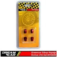 Dreamcar Aluminyum Sibop Kapağı 4'lü Set Kırmızı 8010026