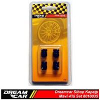 Dreamcar Aluminyum Sibop Kapağı 4'lü Set Mavi 8010035