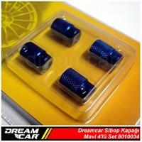 Dreamcar Aluminyum Sibop Kapağı 4'lü Set Mavi 8010034