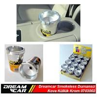 Dreamcar Smokeless Dumansız Kova Küllük Krom,Bardaklık Monteli 0703002