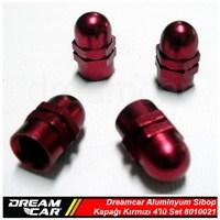 Dreamcar Aluminyum Sibop Kapağı 4'lü Set Kırmızı 8010021