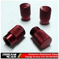 Dreamcar Aluminyum Sibop Kapağı 4'lü Set Kırmızı 8010024