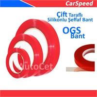 CarSpeed Çift Taraflı Silikon Şeffaf Bant ( OGS ) 20 mm x 5 Metre