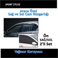 Peugeot Bipper Sport Style Oto Cam Rüzgarlığı Ön Mugen Model 2'li Set