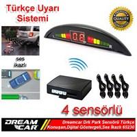 Dreamcar Drk Park Sensörü Türkçe Konuşmalı,Dijital Ekranlı,Ses İkazlı,4 Sensörlü 65230