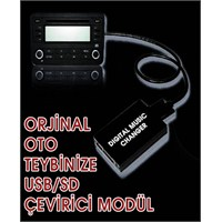 Peugeot 307 (2005 Sonrası) Digital Music Orijinal Müzik Çaları ( USB & SD )li çalara çevirici modül