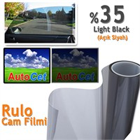 AutoCet 100 cm 5 MT Renkli Rulo Cam Filmi Açık Siyah % 35 L.Black (25313)