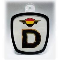 Z tech Almanya Bayrak Logolu Pleksi Araç İçi Logo