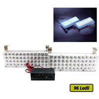 96 Ledli Panjur İçi Flash Lamba Seti Beyaz + Beyaz | 115066