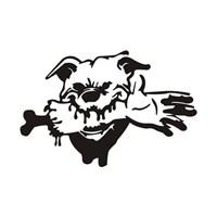 Z tech Vahşi Köpek stickerı SİYAH (14x20cm)