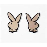 Z tech Mini Playboy Logosu 3D görünümlü sticker 2li takım
