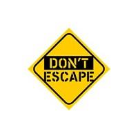 Dreamcar Vantuzlu Amblem ''DON'T ESCAPE'' (Cam Yüzeylere Yapıştırılabilir.) 3300749.