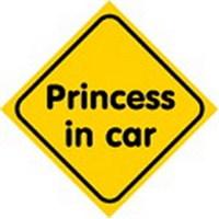Dreamcar Vantuzlu Amblem ''PRINCESS IN CAR'' (Cam Yüzeylere Yapıştırılabilir.) 3300751.