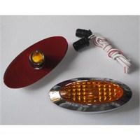 Dreamcar Yan Sinyal Lambası Krom Oval Sarı Camlı 2'li 3548102