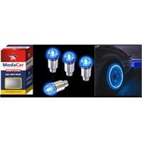 ModaCar 2 Adet Mavi Işıklı Sibop Kapağı 99m0086