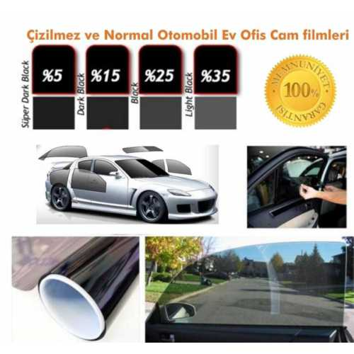 Cam Filmi 100Cmx60M Çizilmez Solar Super Dark Black