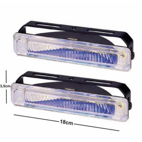 Sis Lambası İnce Uzun 18X3.5Cm Beyaz Takım