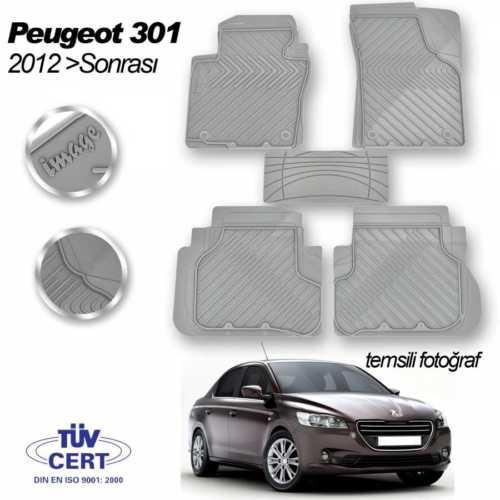 Peugeot 301 Uyumlu Kauçuk Paspas Gri