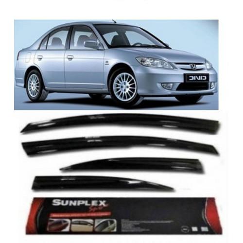 4 Lü Honda Civic 2001-2006 Ön-Arka Sport Stlye Sunplex Cam Rüzgarlığı