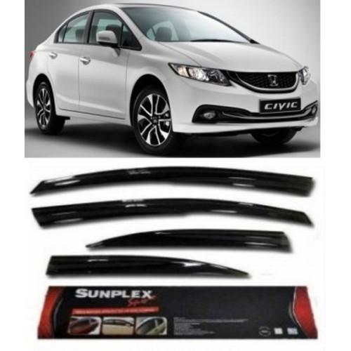 4 Lü Honda Civic 2012 Ve Sonrası Ön-Arka Sport Style Sunplex Cam Rüzgarlığı
