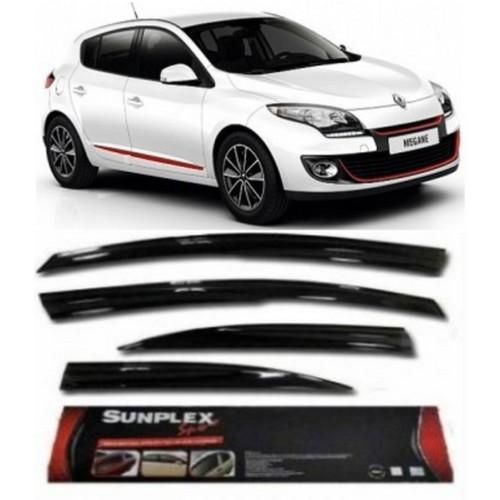4 Lü Renault Megane Iıı Ön-Arka Sport Style Sunplex Cam Rüzgarlığı