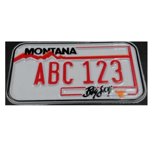 Kabartmalı Montana Orginal Amerikan Plaka 15Cm-8Cm