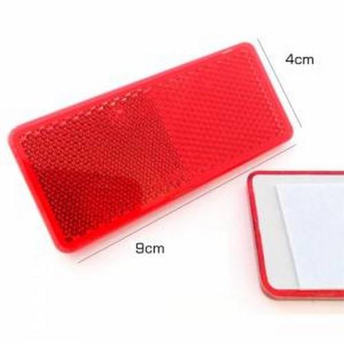 Reflektör Küçük Dikdörtgen Kırmızı 4Cm-9Cm
