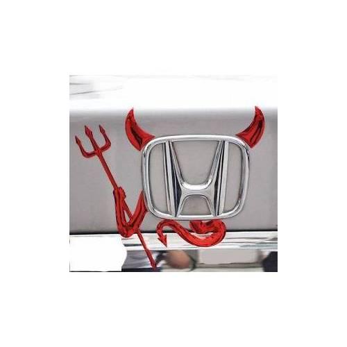 Süslenoto Cam Pleksi Şeytan Devil Otomobil Logo 3 Boyutlu