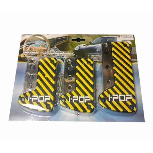Süslenoto Pedal Seti Sarı Alüminyum Üstü Silikon Desenli