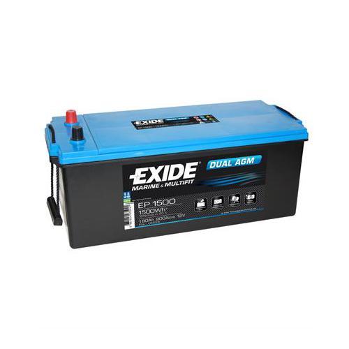 Exide EP1500 12 Volt 180 Amper Solar AGM Akü