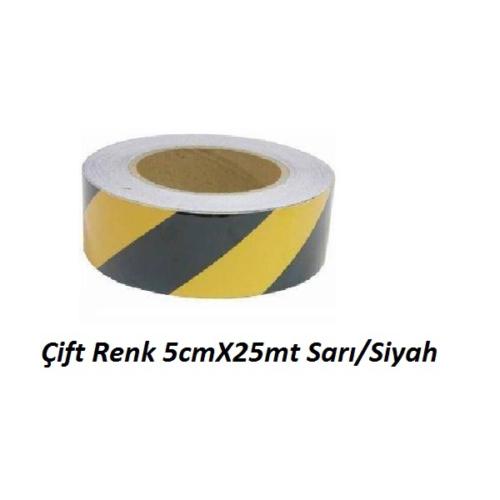 Gliptone Carat Reflektif Çift Renk 5cmX25mt Sarı/Siyah