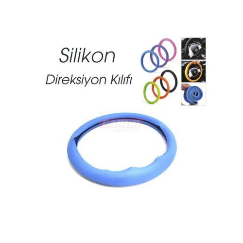 Carub Direksiyon Kılıfı Silikonlu Mavi
