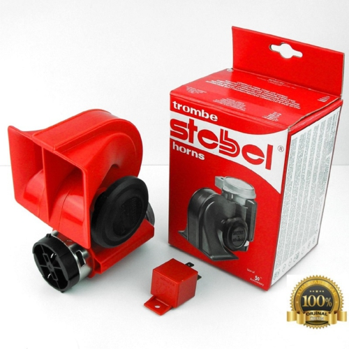 Stebel Nautilus Ferrari Havalı Korna Kırmızı 12 Volt Made in Italy