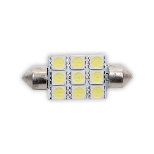 Sofit Ampul 9LED Beyaz 12V 42Mm
