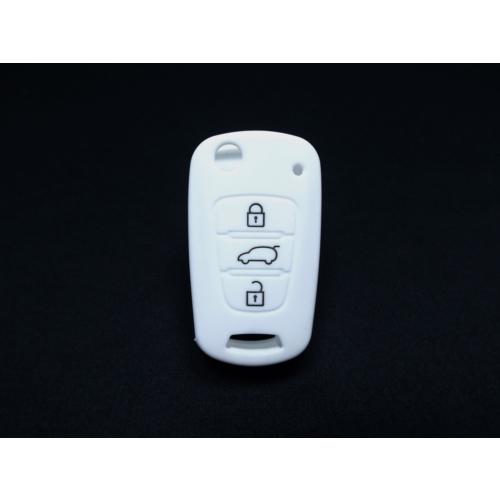 Gsk Kia Rio Kumanda Kabı Koruyucu Silikon Kılıf 3 Tuş 2010-2012 Beyaz