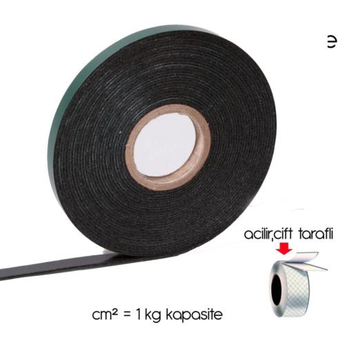 ModaCar Siyah Köpük Çift Taraflı Bant 3 cm x 10 Mt 6553201