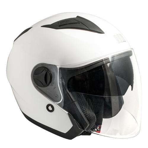 CGM Oslo Beyaz Açık Motosiklet Kaskı Kısa Vizör 130A-BLV-14D Large