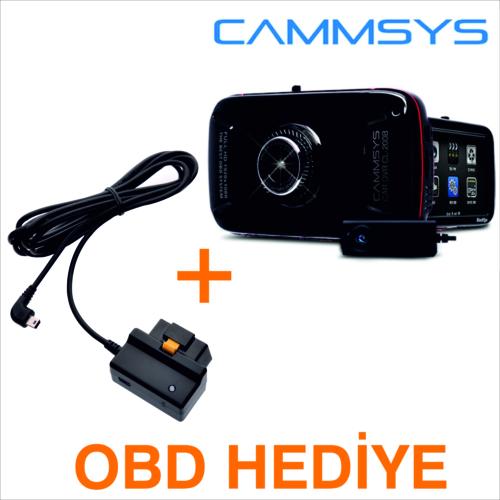Blacksys CL-200B 2ch Araç Kamerası + OBD Terminal Kablosu Hediyeli