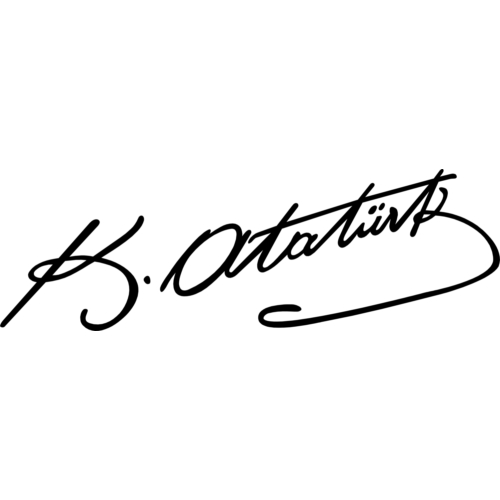 ModaCar Motorsiklet K.Atatürk Siyah İmza Sticker 20x6 cm 75d006