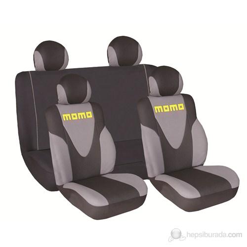 Momo 012 Spor Koltuk Kılıfı Seti ( Gri/Siyah)