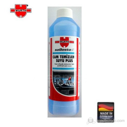 Würth Konsantre Cam Suyu Plus 1000 ml. Made in Germany 02332840