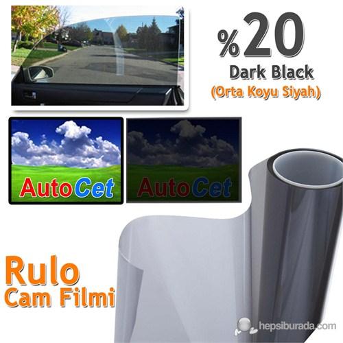 Autocet 75 cm 20 MT Renkli Rulo Cam Filmi Siyah % 20 Black (MADE IN KOREA)