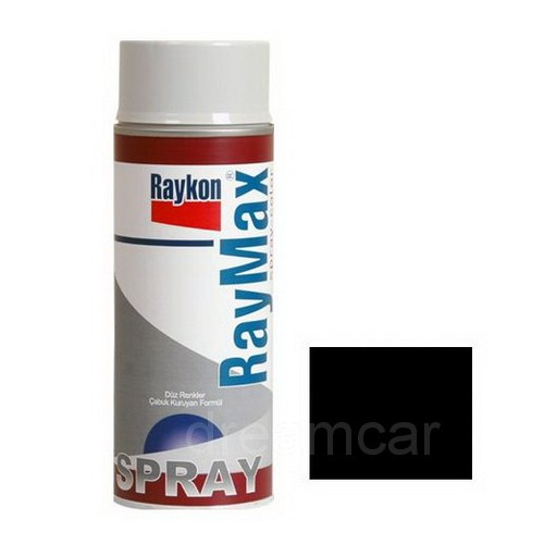 Raymax 690c Dereceye Dayanıklı Siyah Akrilik Sprey Boya 400 Ml. 04256424
