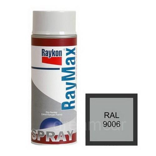 Raymax Parlak Gümüş Gri (Ral 9006) Akrilik Sprey Boya 400 Ml. 04301278
