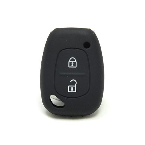 Gsk Dacia Solenzo Anahtar Kabı Koruyucu Silikon Kılıf 2 Tuş Siyah