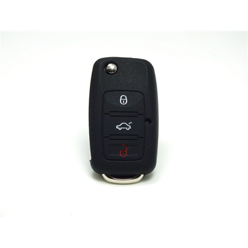 Gsk Volkswagen Kumanda Kabı Koruyucu Kılıf 3 Tuş Siyah