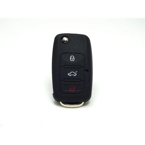 Gsk Volkswagen Caddy Kumanda Kabı Koruyucu Kılıf 3 Tuş Siyah2000-2009