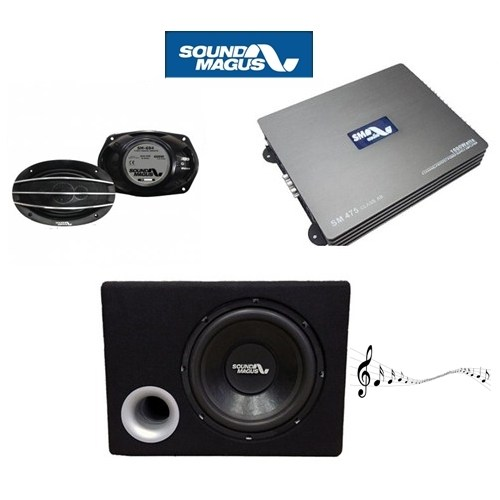 Soundmagus Amfi Bas Oval Hoparlör Ses Sistemi Paketi