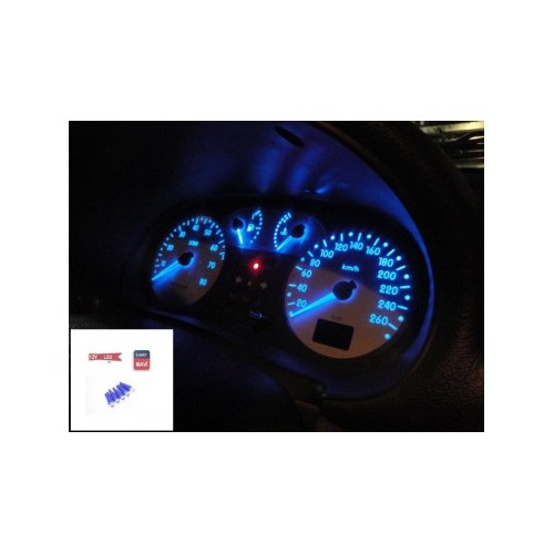 Schwer T5 Tip Gösterge Mavi Ledli Ampül(5 Adet) 9640
